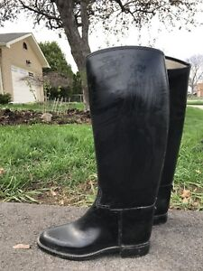 Lined non-leather English riding boots size 7