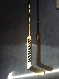 New hockey sticks