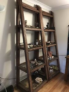 Unique solid wood display shelves Mullumbimby Byron Area Preview