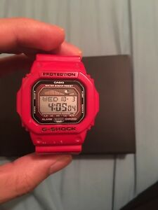 Casio G shock watch red