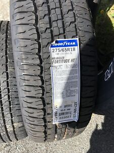 Set of wrangler fortitude HT tires