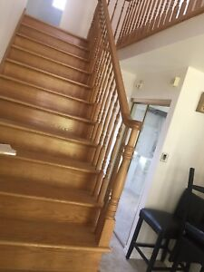 Solid Oak Banisters - Buyer to Remove - $350.00