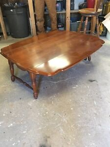 Rock maple coffee table