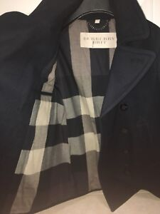 Brand new Burberry wool blend pea coat size M