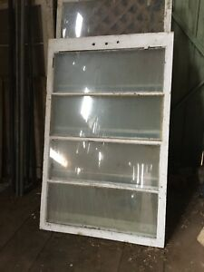 Old Window Sashes / Used Glass Sealed Units / Glass in frames