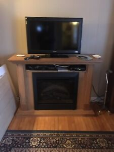 Electric fireplace with cabinet for sale