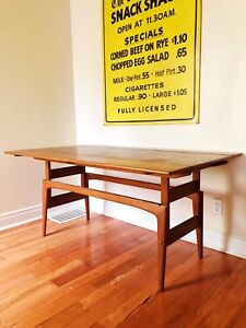"Mid century modern Danish teak ""elevator"" table"