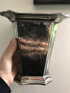 Antique Flower Vase Silver Plated