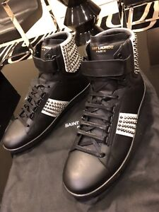 38370eb9bb8c Saint Laurent high top sneakers black size 42