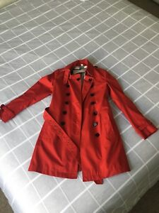Burberry Trench Coat Red Size 6