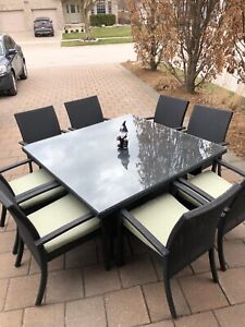 91bf5c55e00c6 Outdoor Wicker 8 Person Dining Set - Mint Condition