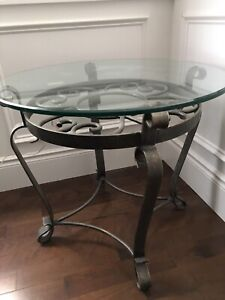 Glass/wrought iron tables