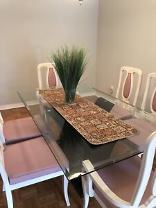 Glass Dining Set Available - Perfect Condition