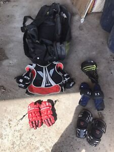 Lacrosse bag and gear