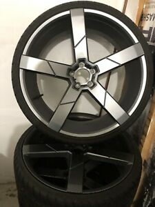 "22"" rims and tires 5x108 bolt pattern TOYO TIRES"
