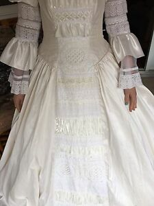Italian silk wedding dress