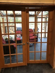 Two sets matching double French doors