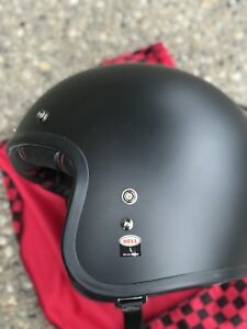 Large black bell motorcycle helmet