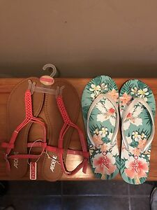 Two pairs of sandals