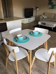 Dining setting 4 x chairs table plates bowls Burton Salisbury Area Preview