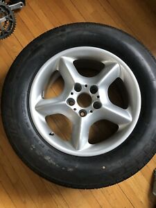 BMW rim and tire