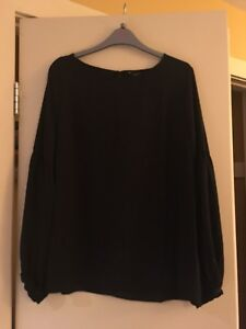 Ladies chiffon black blouse NEW with tags