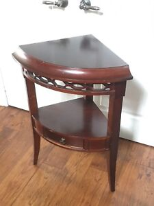 Quarter Round (1/4) Side Table - Good Condition
