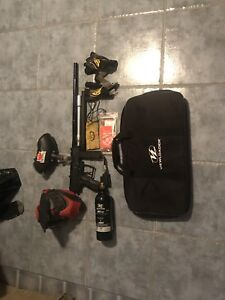 Paintball gun and accessories $150