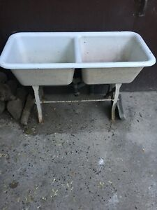 Vintage double laundry sink