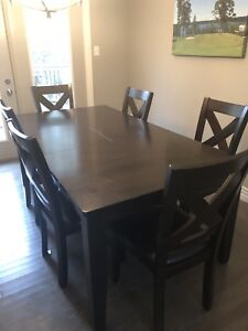Large Dining Room Table Set With 6 Chairs