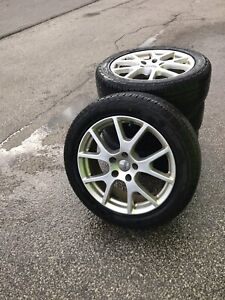"""Dodge OEM 19"""" rims and tires"""