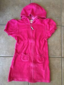 Girls size 10 hooded terry cover up