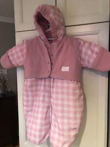 Manteau très chaud d'hiver pour bébé avec foulard et tuque