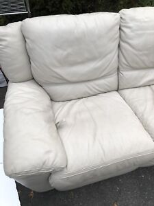 Natuzzi Leather Sofa with Recliner & chaise