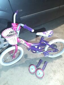 "Princess bikes 16"" with training wheels"