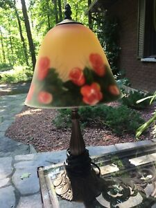 1950,s Reverse Painted Lamp