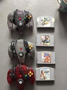 3 manette Nintendo 64 + 4 jeux