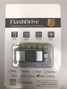 64GB Multi-functional USB flash drive for iPhone and android