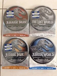 JURRASIC PARK EXCLUSIVE METAL TINS COLLECTION ON BLU RAY