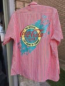 Vintage Coca Cola Classic Shirt Button Up 25 years+