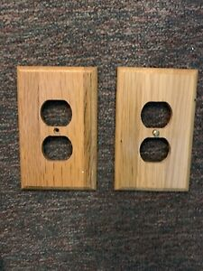 Wooden Decorative Receptacle Faceplate X 6