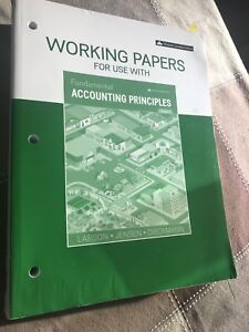 Working paper for fondamental accounting 1- Never used