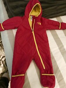 North Face snowsuit size 12-18 months