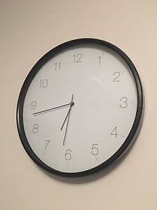 Black and white wall clock Woy Woy Gosford Area Preview
