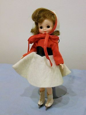 "Lovely Vintage 8"" Tiny Betsy McCall Doll in On the Ice Outfit with Skates"