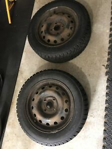 "15"" brand new winter tires on rims"