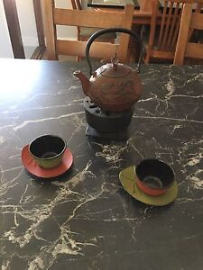 Cast iron tea set for 2
