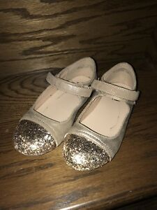 Girls Size 10 Gold Dress Shoes