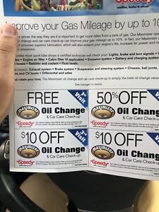 Speedy auto service 150+ dollars of coupons