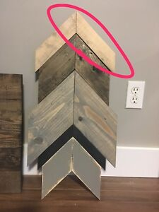 Chevron arrow decor